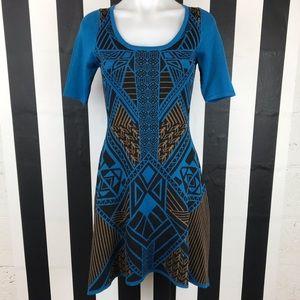 5 for $25 Flying Tomato Blue Aztec Tribal Dress